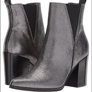 IVANKA TRUMP Shimmering Pewter Ankle Boots